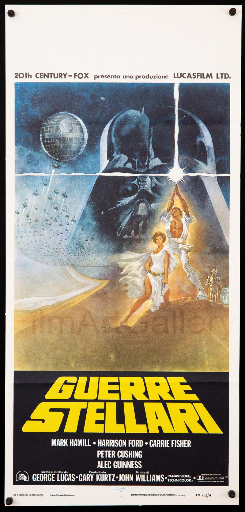 Star Wars Italian Locandina (13x28) Original Vintage Movie Poster