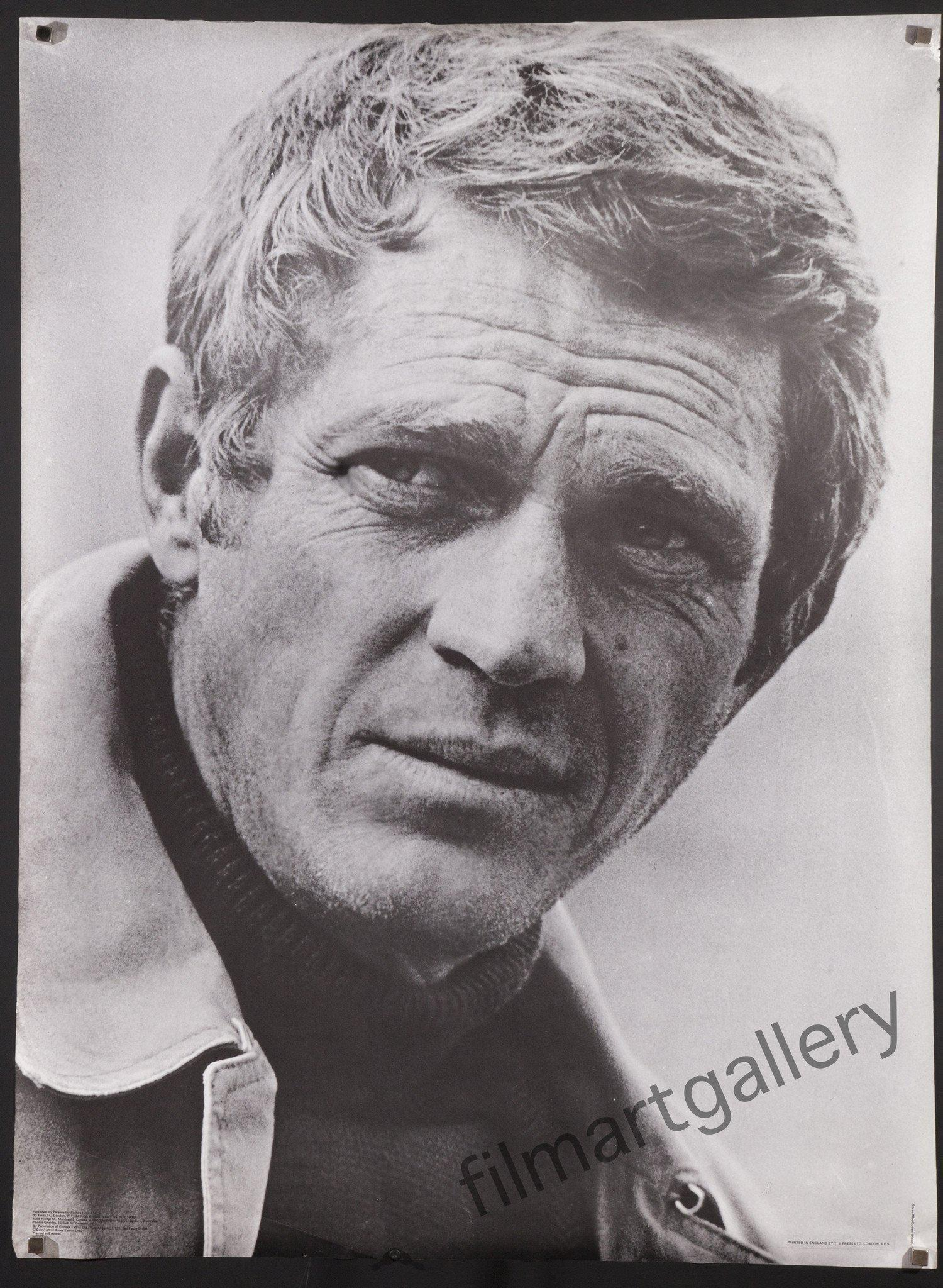 Steve McQueen 1 Sheet (27x41) Original Vintage Movie Poster