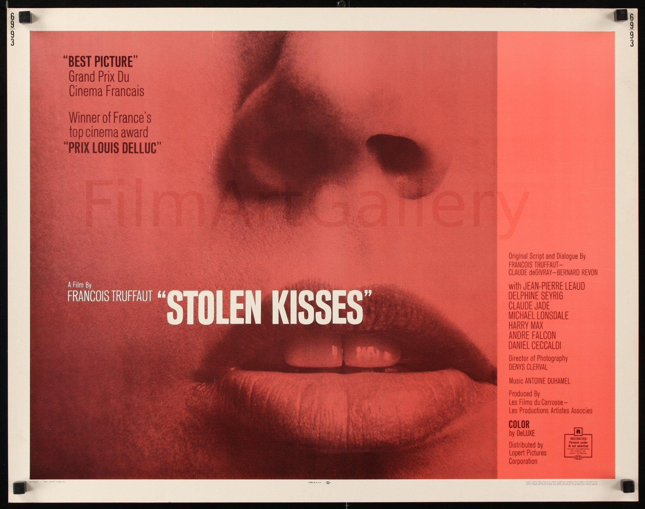Stolen Kisses (Baisers Voles) Half Sheet (22x28) Original Vintage Movie Poster