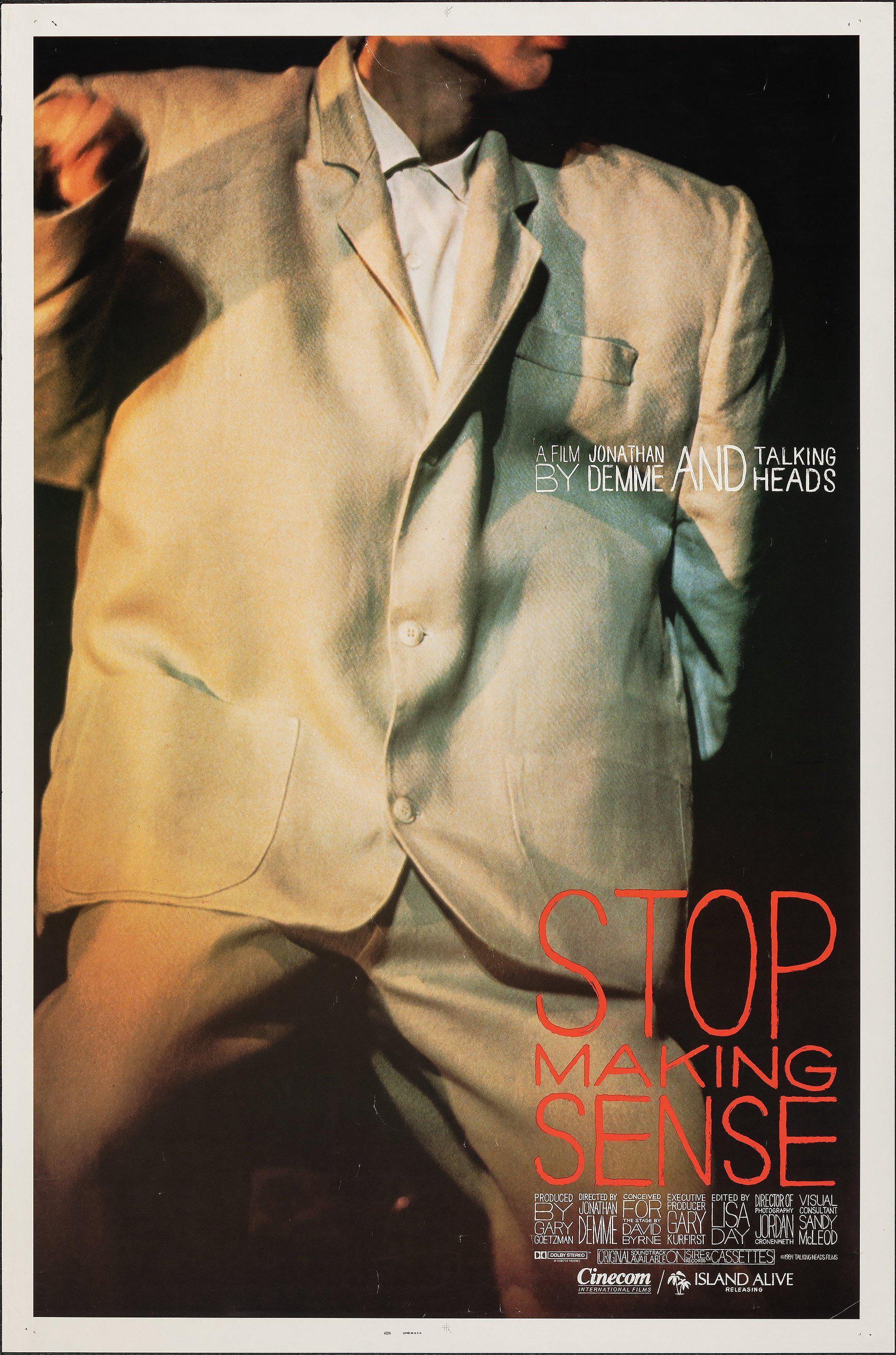 Stop Making Sense 1 Sheet (27x41) Original Vintage Movie Poster