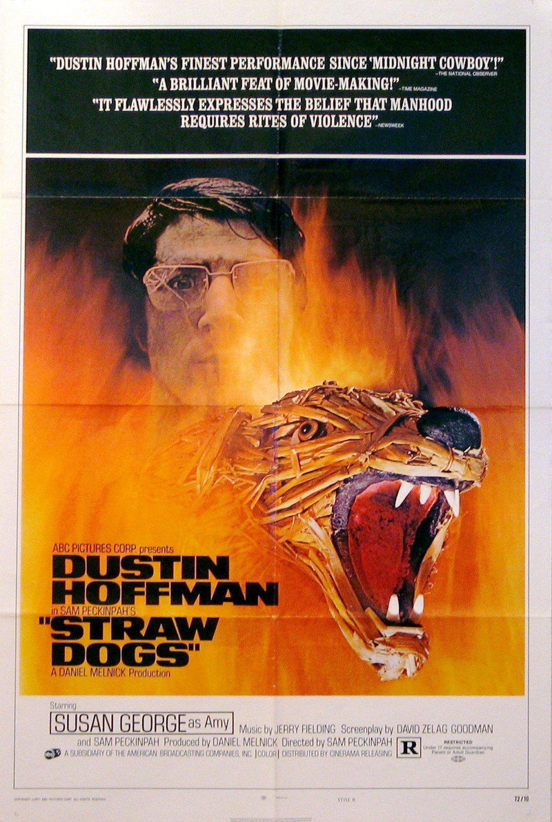 Straw Dogs 1 Sheet (27x41) Original Vintage Movie Poster