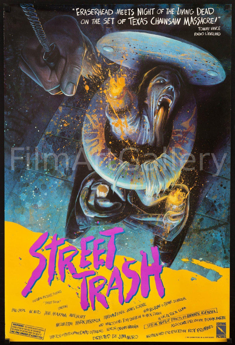 Street Trash 1 Sheet (27x41) Original Vintage Movie Poster