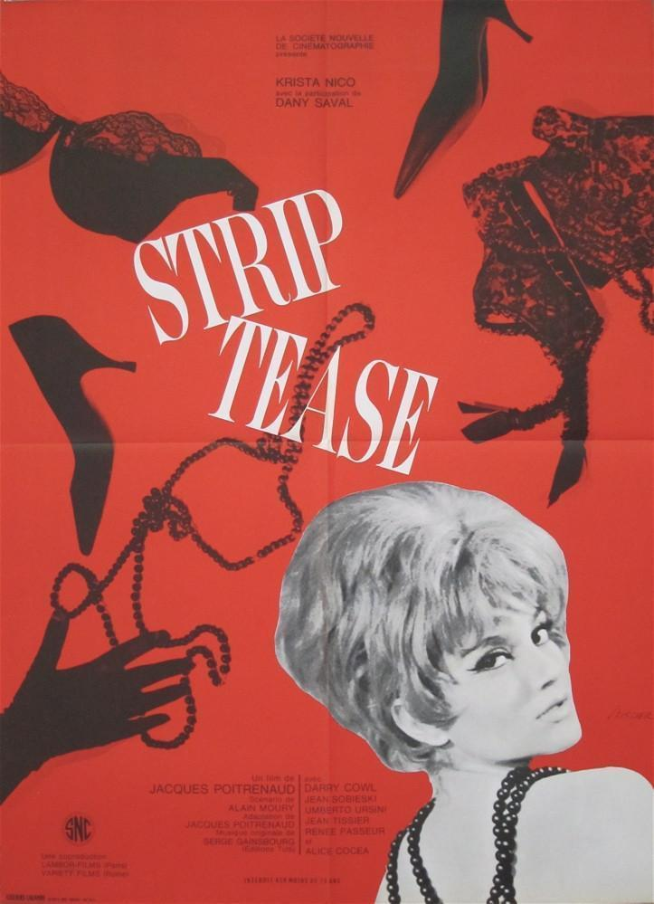 Strip Tease (Striptease) French small (23x32) Original Vintage Movie Poster