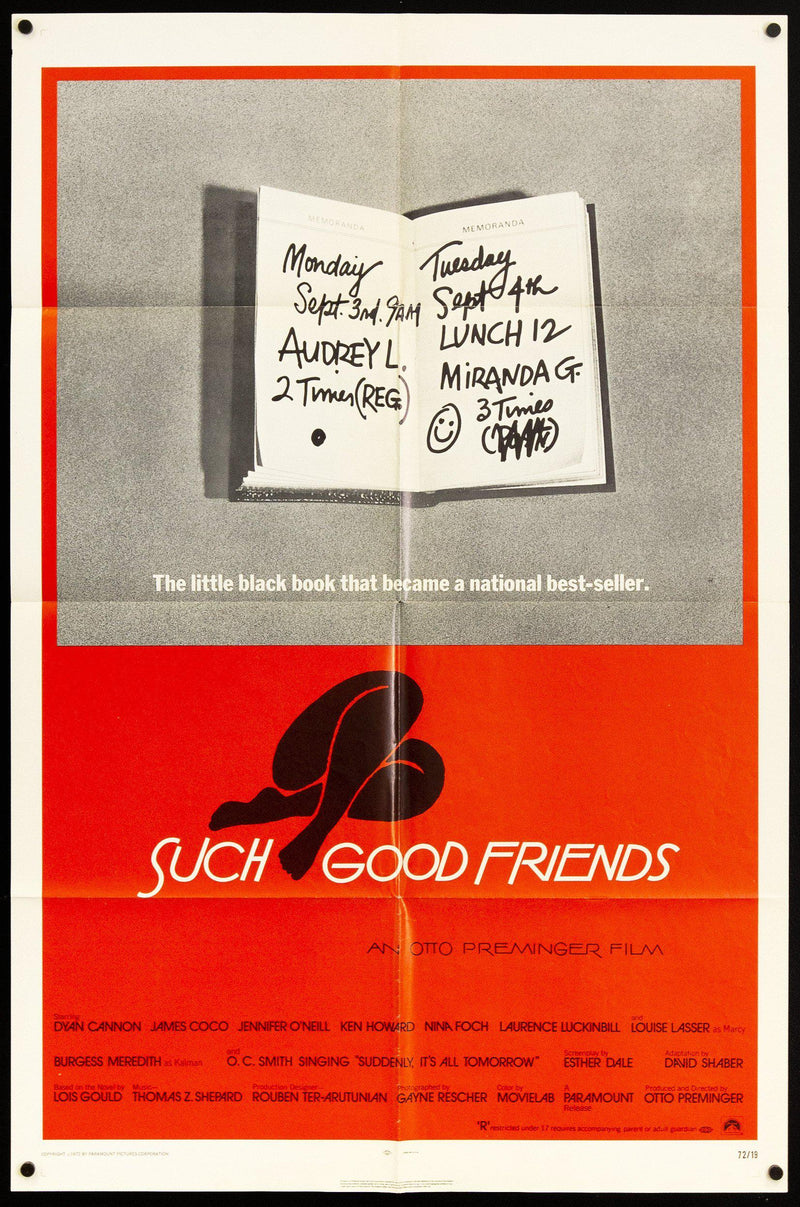 Such Good Friends 1 Sheet (27x41) Original Vintage Movie Poster