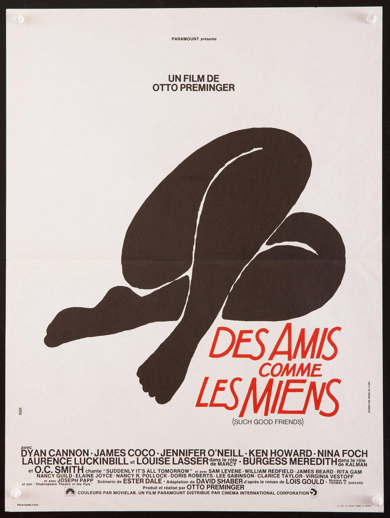 Such Good Friends French mini (16x23) Original Vintage Movie Poster