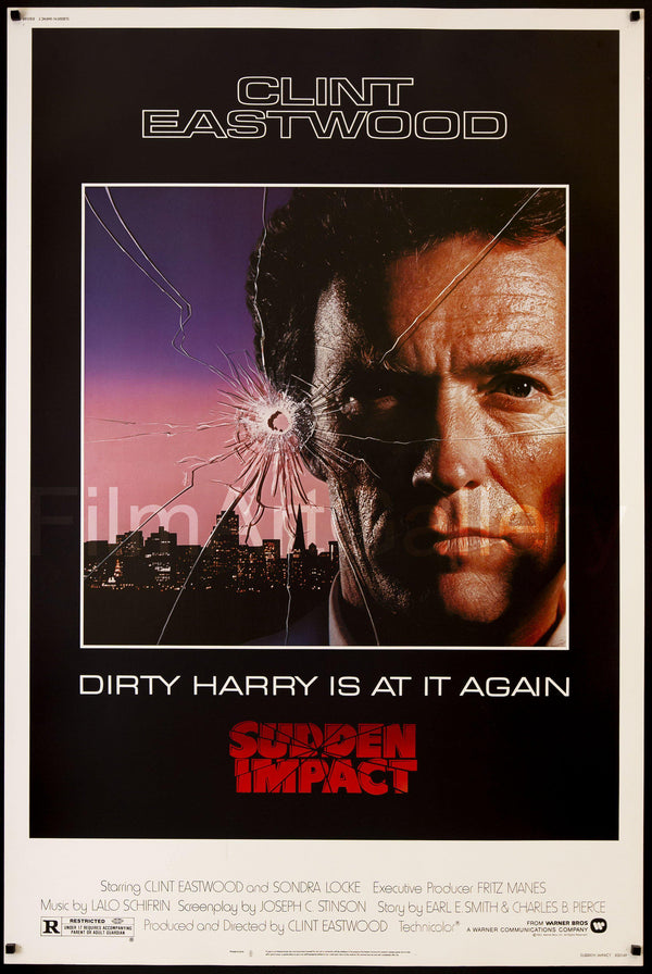 """MOVIE POSTER 12/"""" X 18/"""" CLINT EASTWOOD DIRTY HARRY - JAPANESE VERSION"""