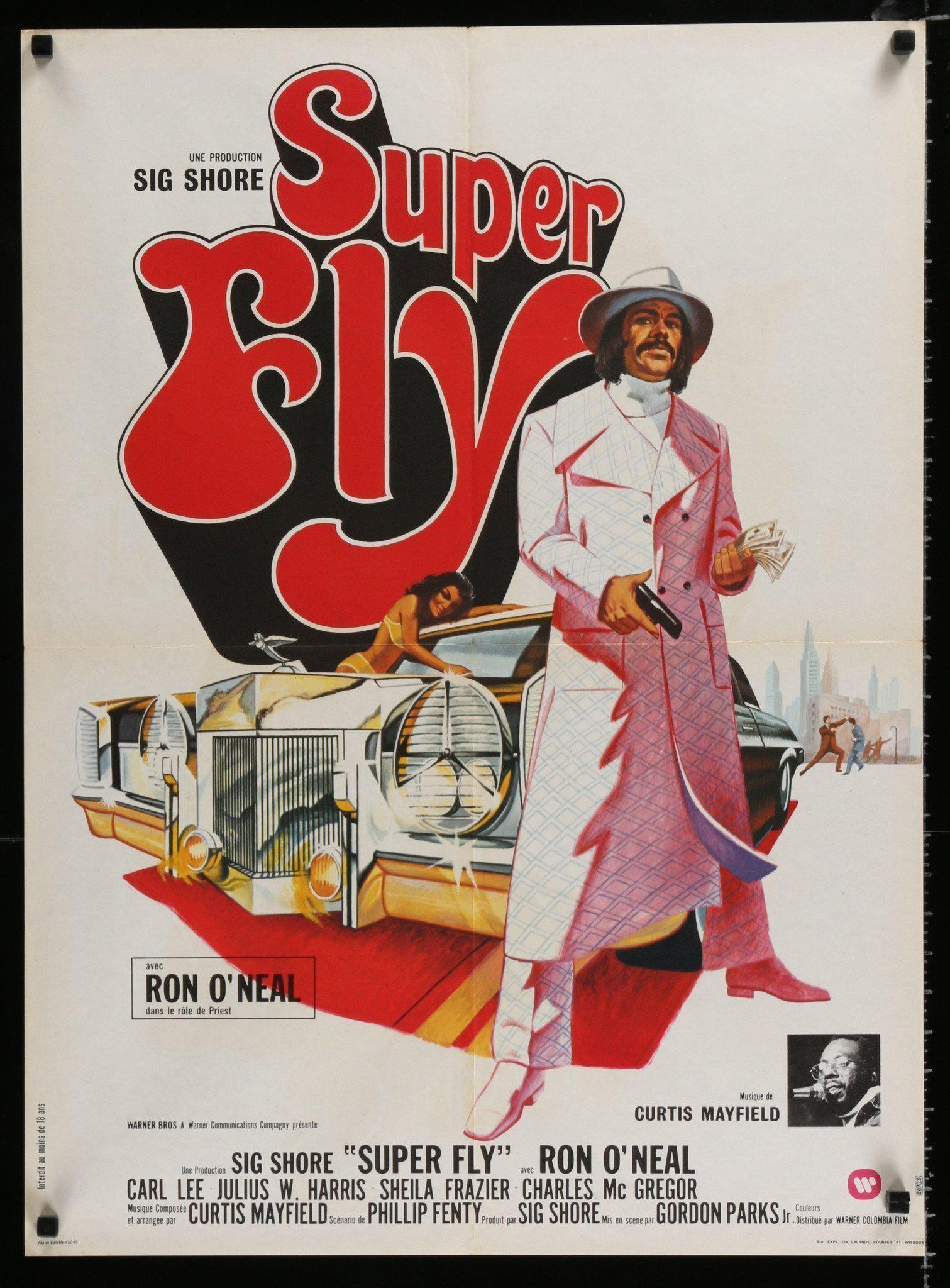 Superfly (Super Fly) French small (23x32) Original Vintage Movie Poster