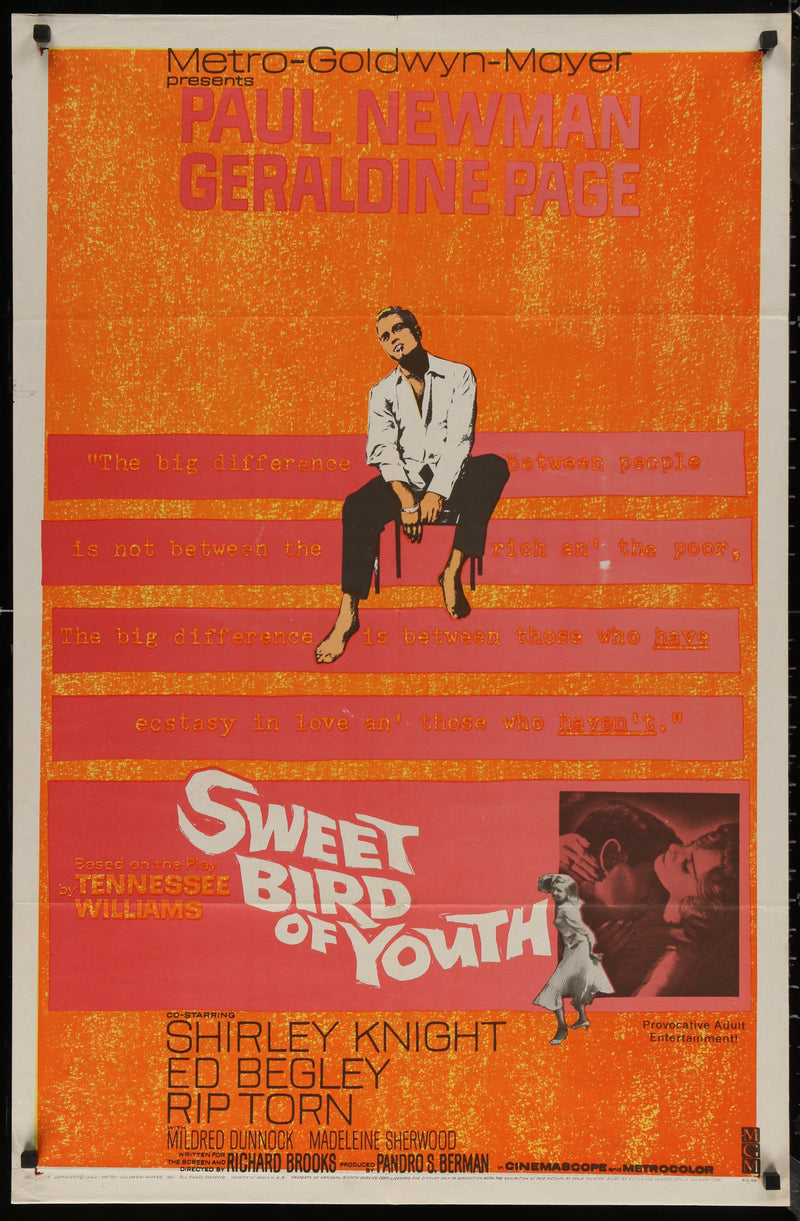 Sweet Bird of Youth 1 Sheet (27x41) Original Vintage Movie Poster