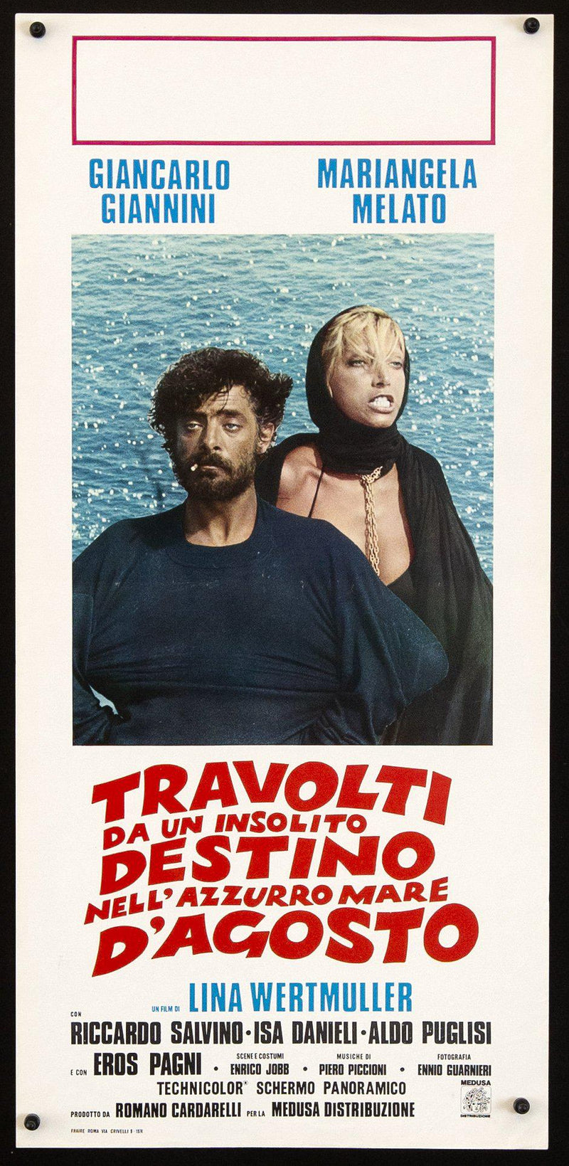 Swept Away... Italian Locandina (13x28) Original Vintage Movie Poster