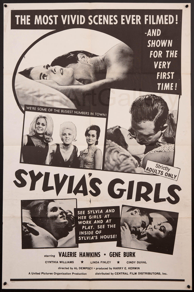 Sylvia's Girls 1 Sheet (27x41) Original Vintage Movie Poster