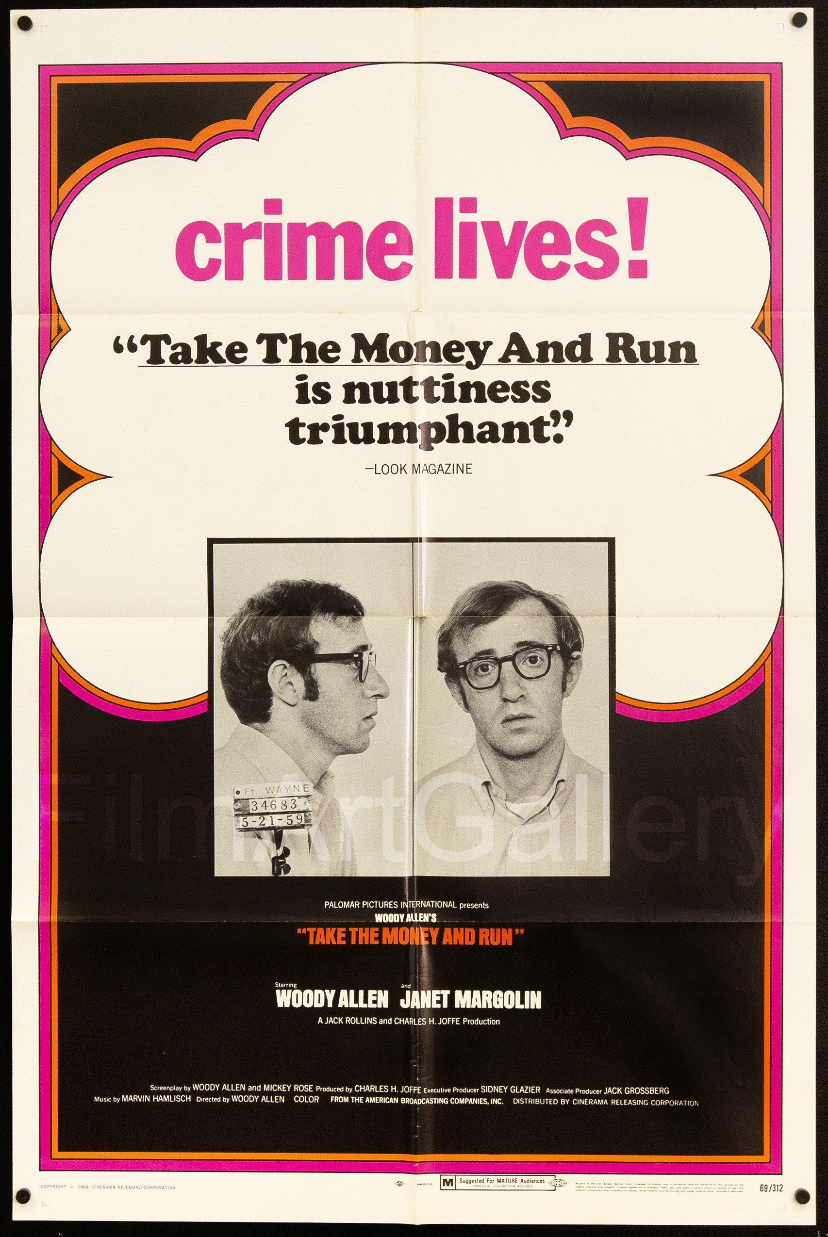 Take the Money and Run 1 Sheet (27x41) Original Vintage Movie Poster