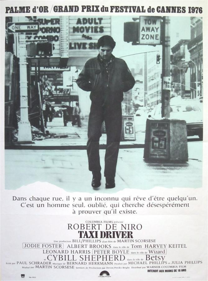Taxi Driver French small (23x32) Original Vintage Movie Poster