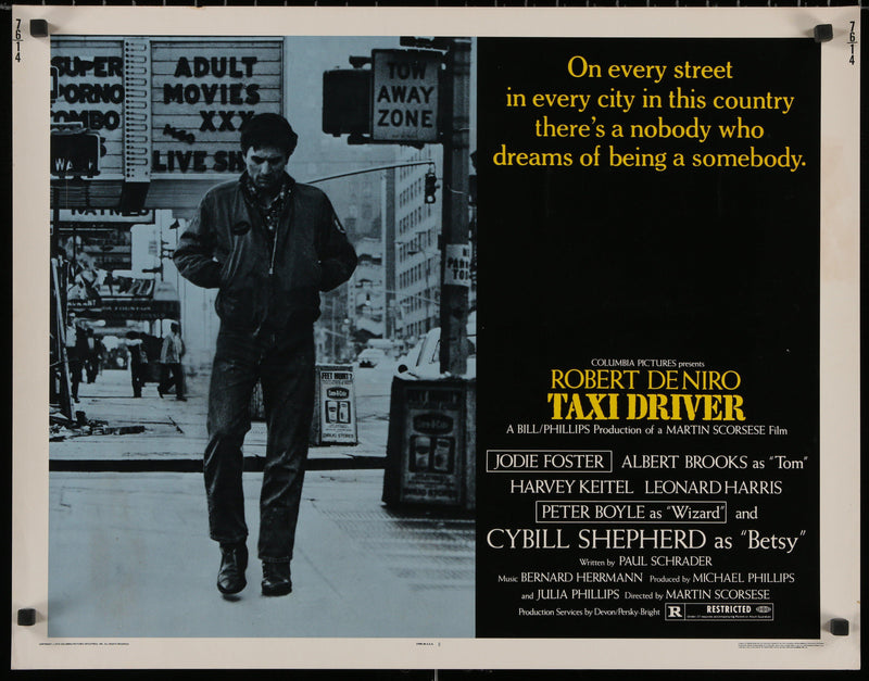 Taxi Driver Half Sheet (22x28) Original Vintage Movie Poster