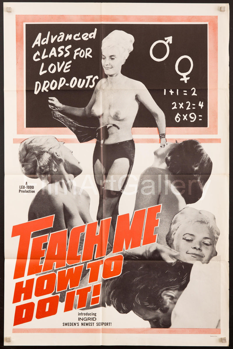 Teach Me How To Do It 1 Sheet (27x41) Original Vintage Movie Poster
