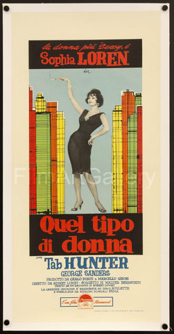 That Kind of Woman (Quel Tipo di Donna) Italian Locandina (13x28) Original Vintage Movie Poster