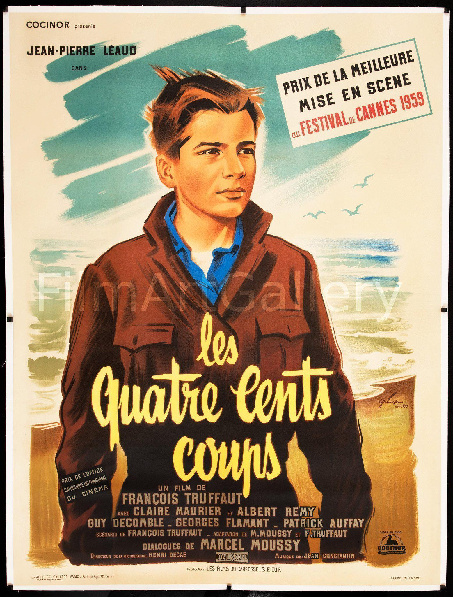 The 400 Blows (Les Quatre Cents Coups) French 1 panel (47x63) Original Vintage Movie Poster