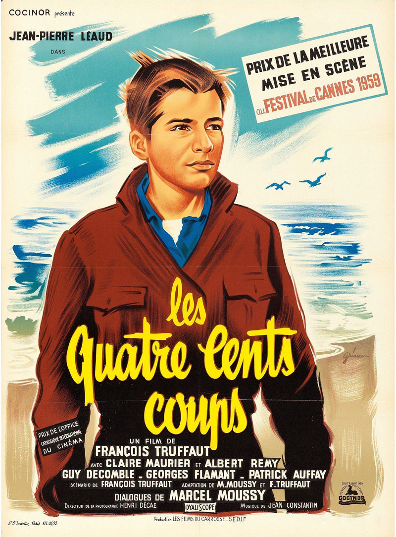 The 400 Blows (Les Quatre Cents Coups) French Small (23x32) Original Vintage Movie Poster