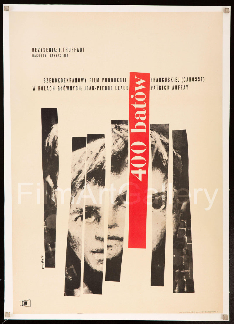 The 400 Blows (Les Quatre Cents Coups) Polish A1 (23x33) Original Vintage Movie Poster