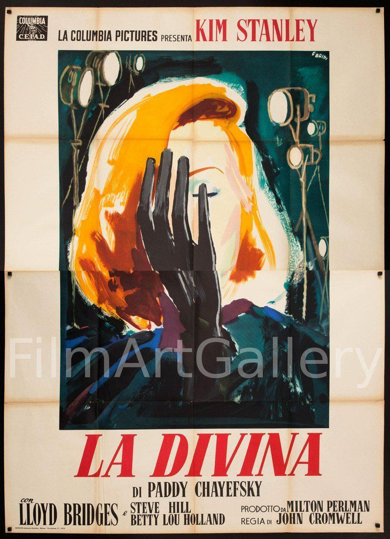 The Actress (La Divina) Italian 4 foglio (55x78) Original Vintage Movie Poster