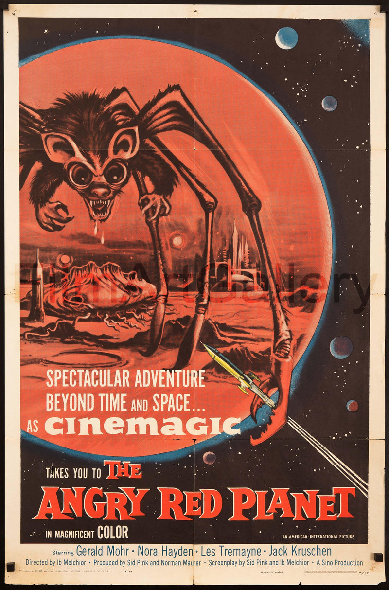 The Angry Red Planet 1 Sheet (27x41) Original Vintage Movie Poster