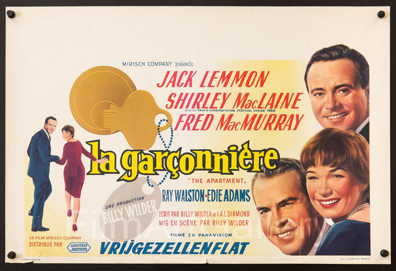 The Apartment Belgian (14x22) Original Vintage Movie Poster
