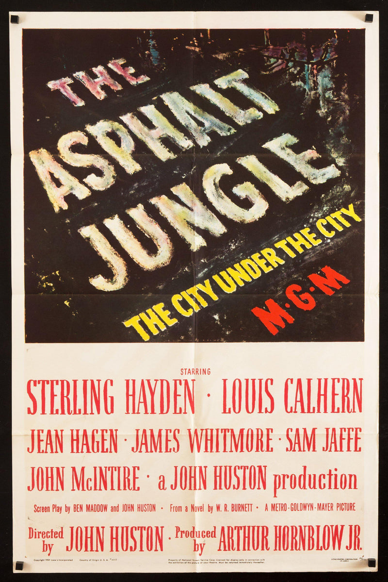 The Asphalt Jungle 1 Sheet (27x41) Original Vintage Movie Poster