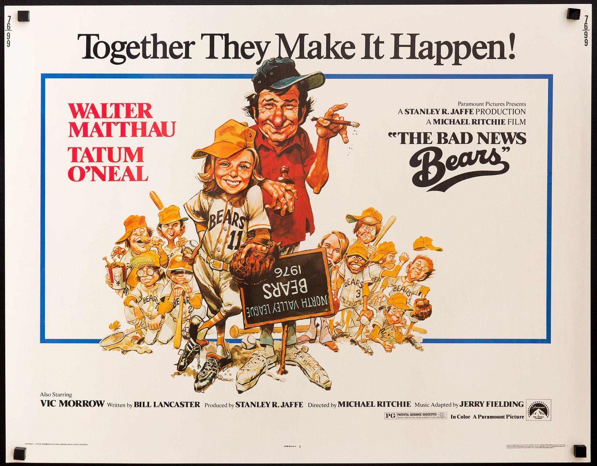 The Bad News Bears Movie Poster | Half Sheet (22x28) Original Vintage Movie  Poster | 7405