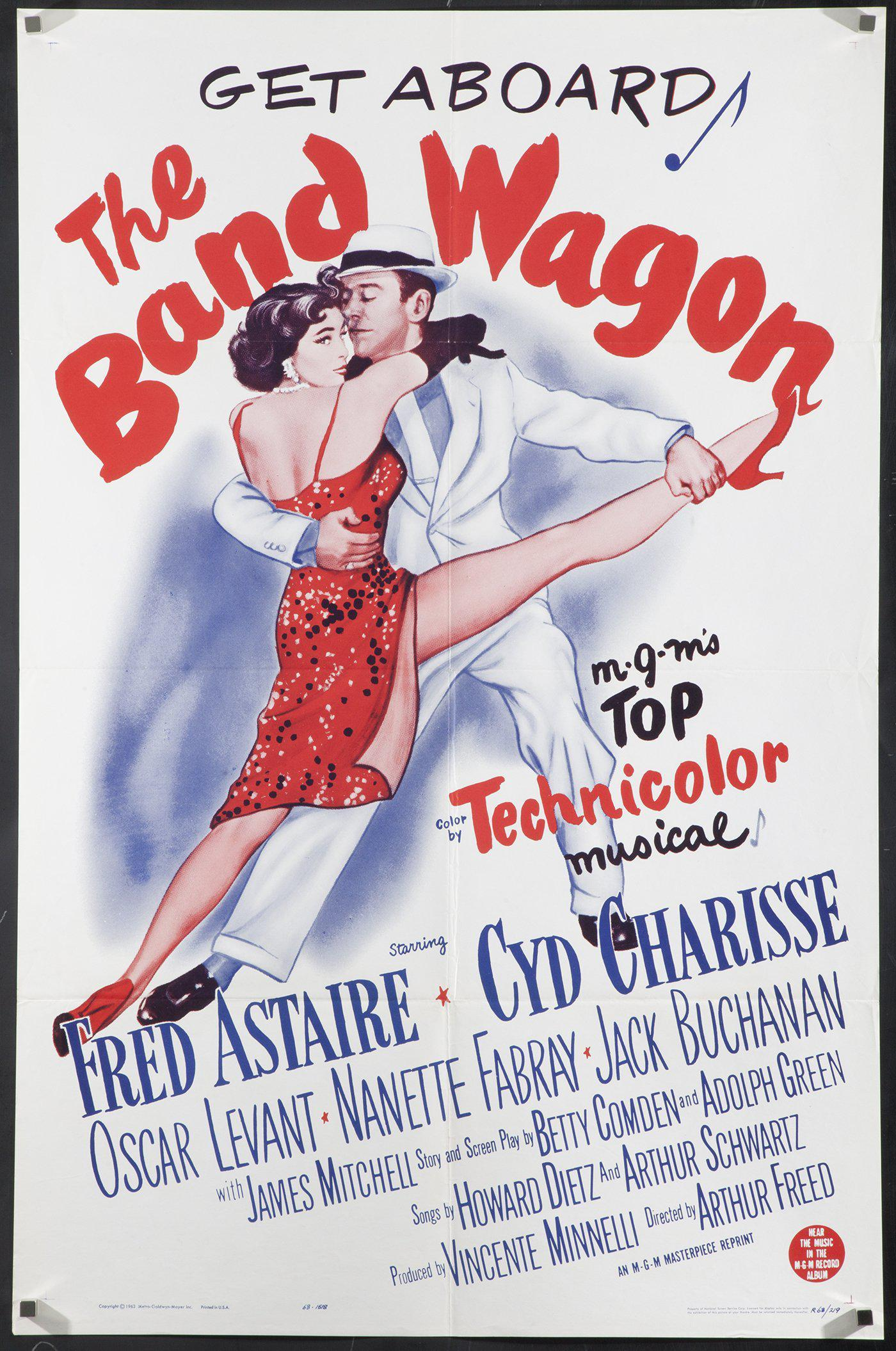 The Band Wagon 1 Sheet (27x41) Original Vintage Movie Poster