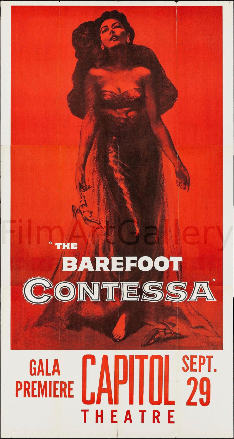The Barefoot Contessa 3 Sheet (41x81) Original Vintage Movie Poster