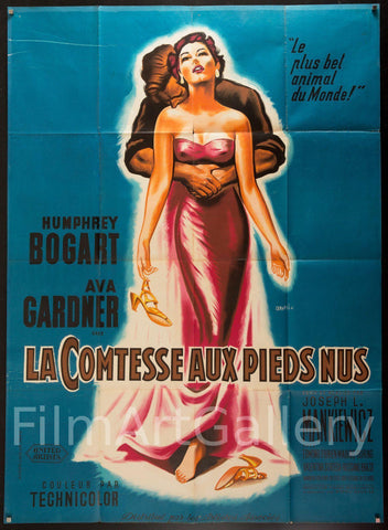 The Barefoot Contessa French 1 Panel (47x63) Original Vintage Movie Poster
