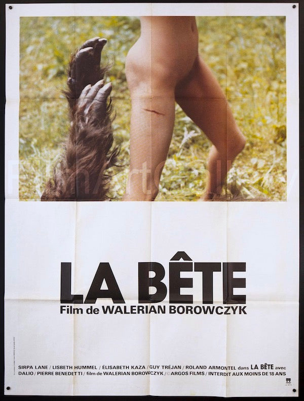 The Beast (La Bete) French 1 panel (47x63) Original Vintage Movie Poster