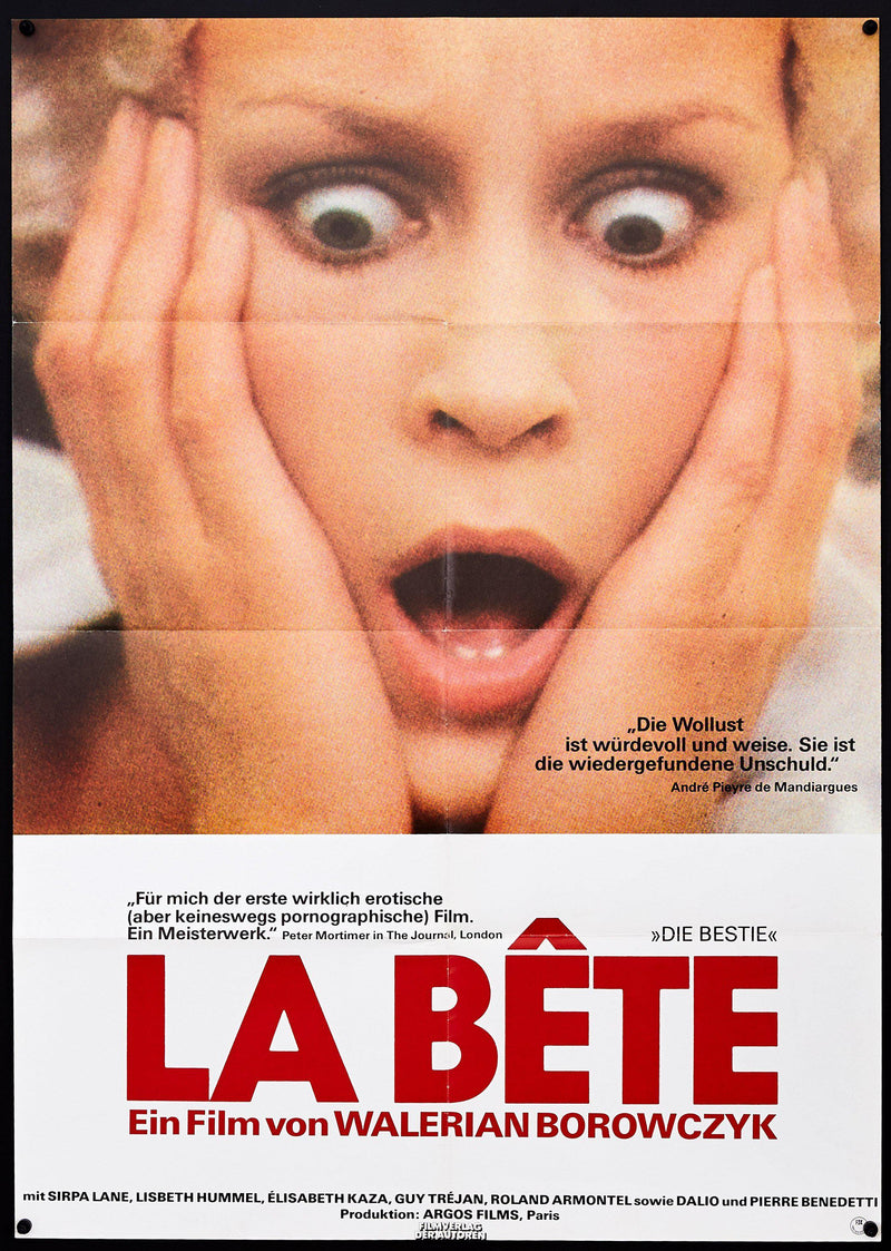 The Beast (La Bete) German A1 (23x33) Original Vintage Movie Poster