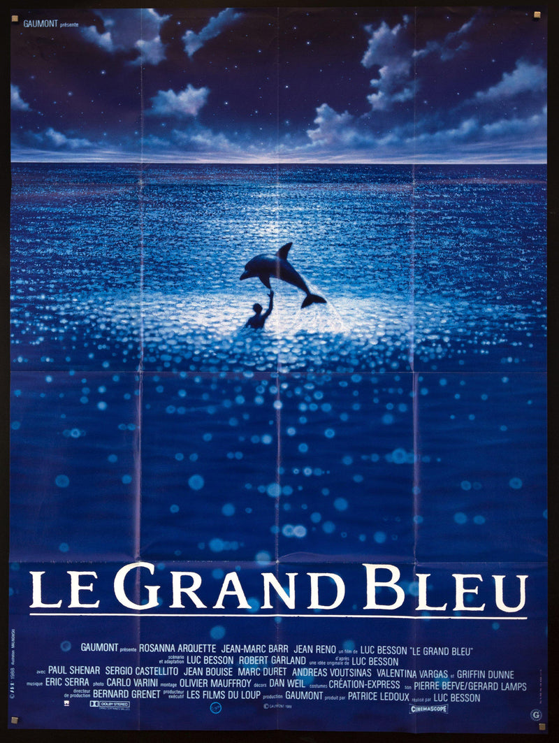 The Big Blue (Le Grand Bleu) French 1 panel (47x63) Original Vintage Movie Poster