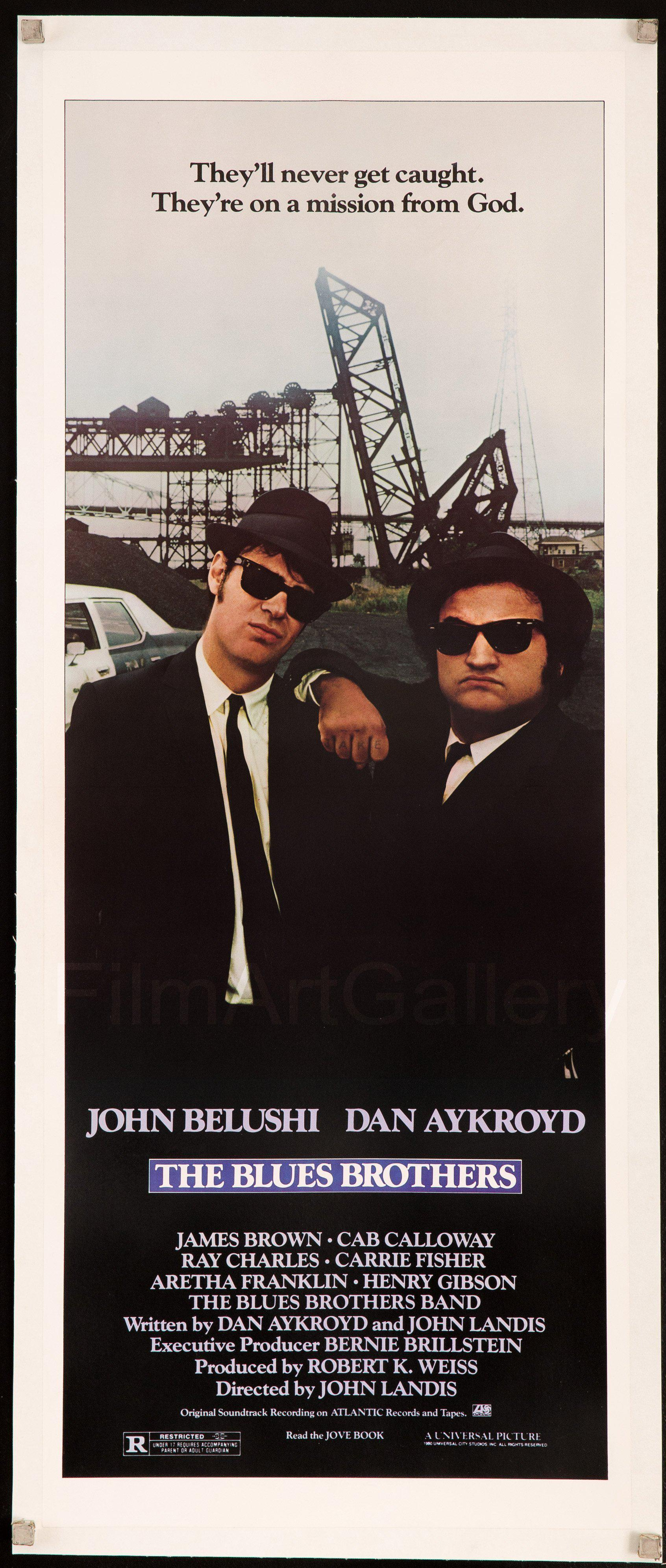 The Blues Brothers Insert (14x36) Original Vintage Movie Poster
