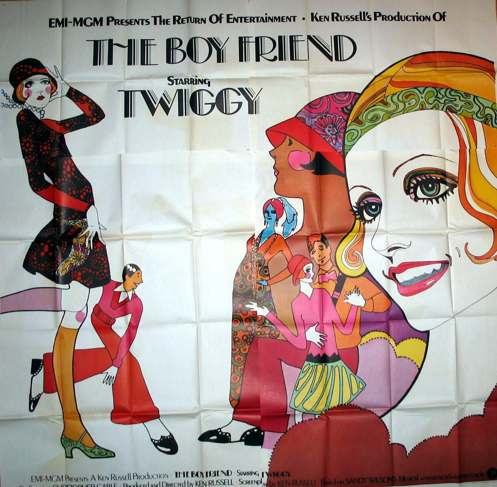 The Boy Friend (The Boyfriend) 6 Sheet (81x81) Original Vintage Movie Poster