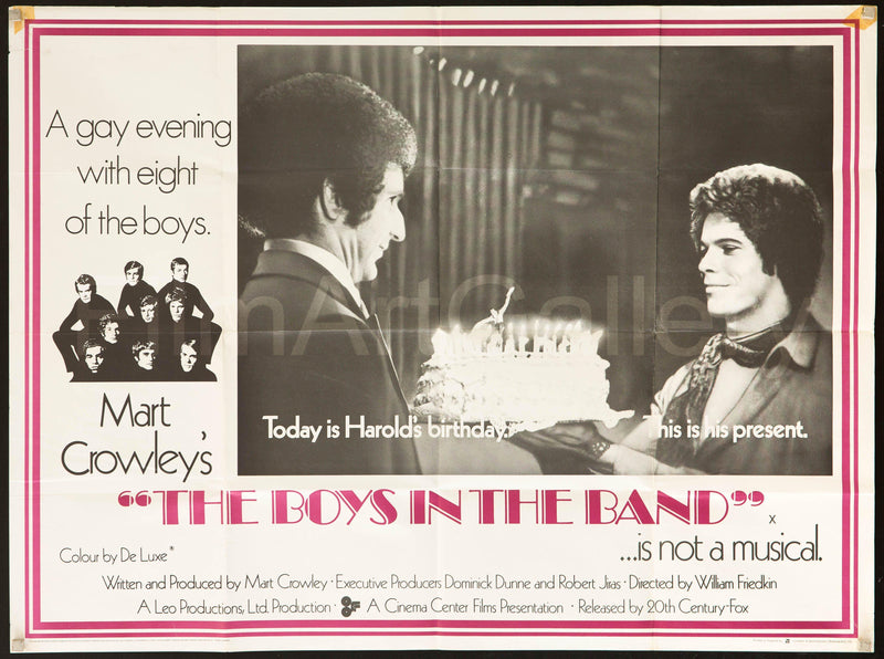 The Boys In the Band British Quad (30x40) Original Vintage Movie Poster