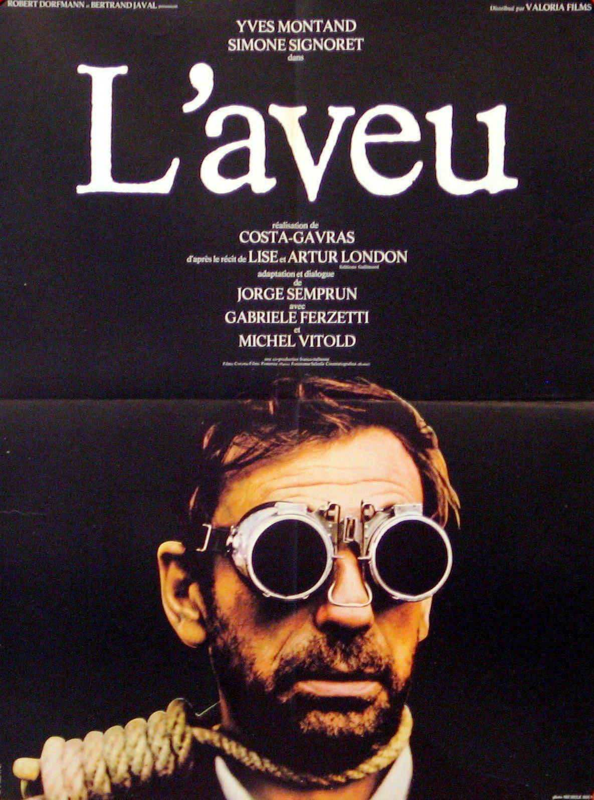 The Confession (L'aveu) French small (23x32) Original Vintage Movie Poster