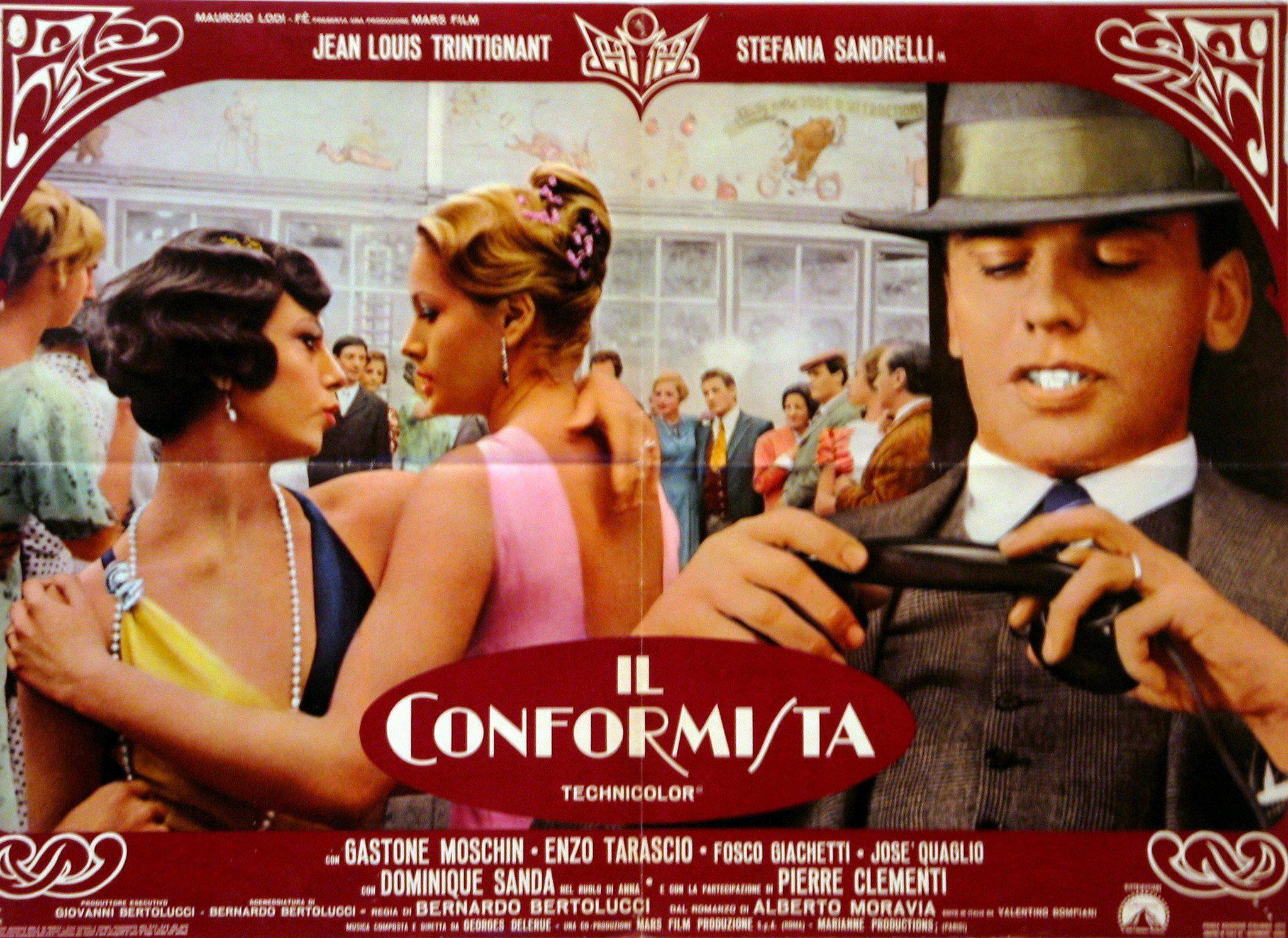 The Conformist (Il Conformista) Italian Photobusta (18x26) Original Vintage Movie Poster