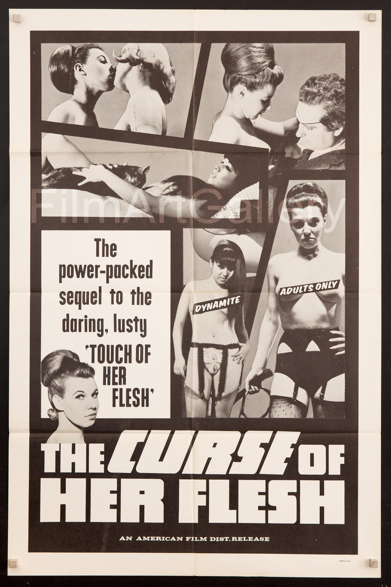 The Curse of Her Flesh 1 Sheet (27x41) Original Vintage Movie Poster