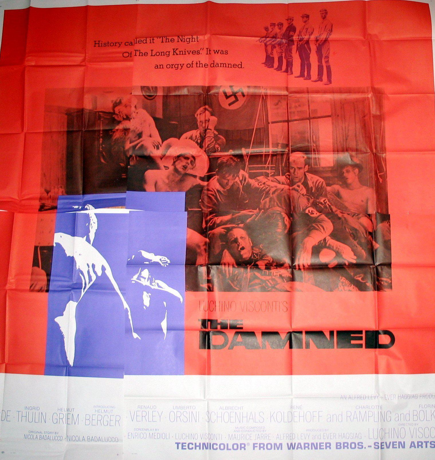 The Damned 6 Sheet (81x81) Original Vintage Movie Poster