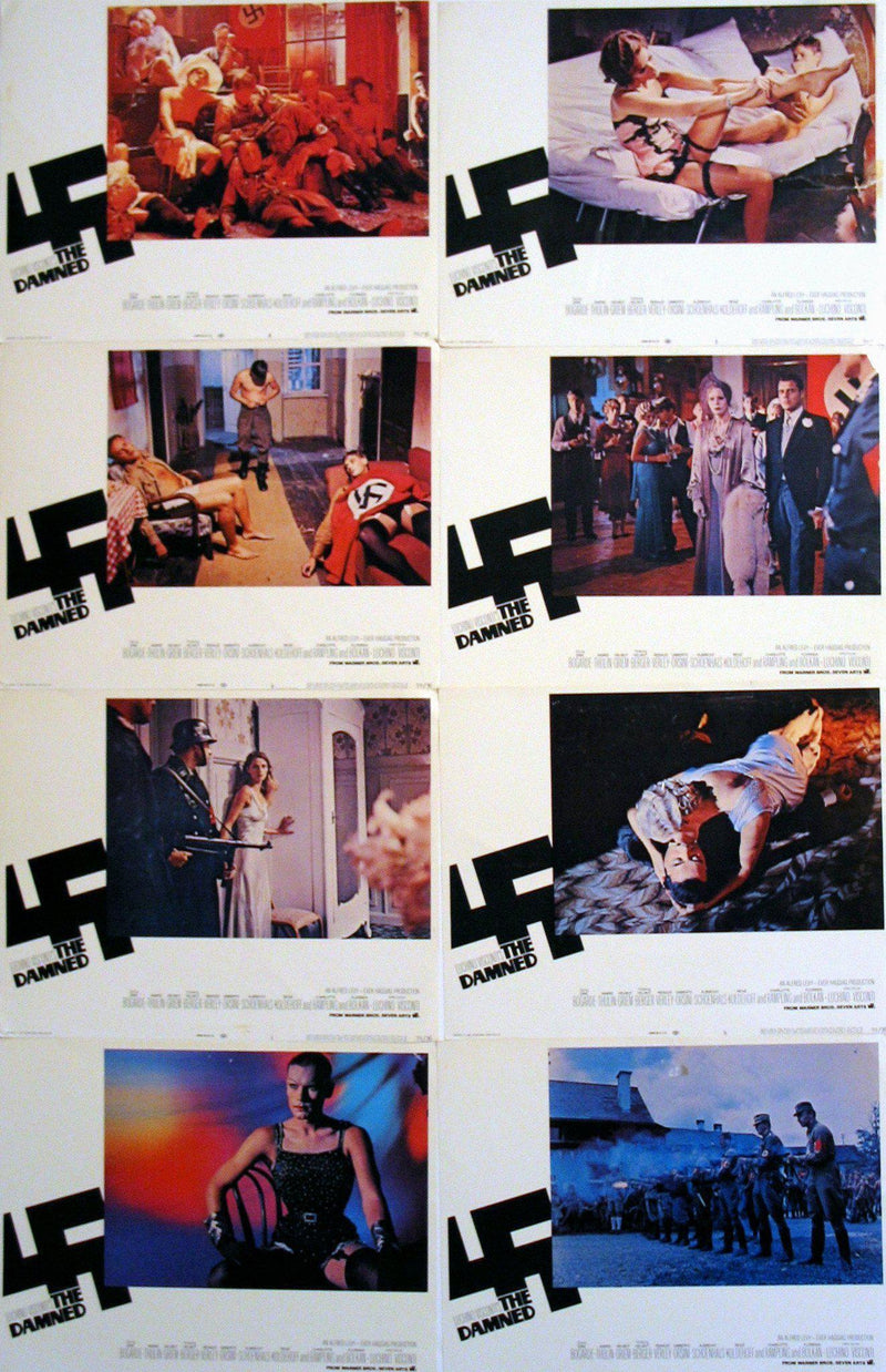 The Damned Lobby Card Set (8-11x14) Original Vintage Movie Poster
