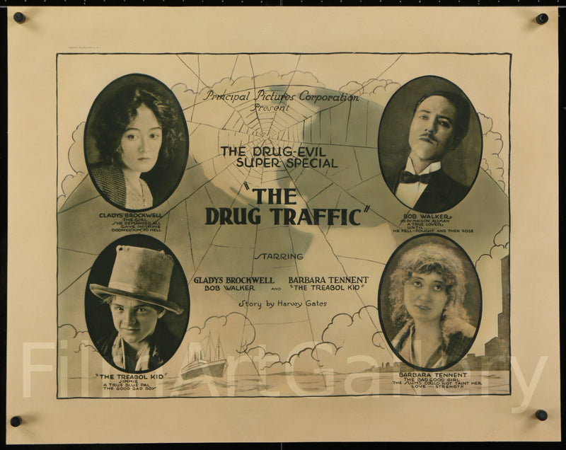 The Drug Traffic Half sheet (22x28) Original Vintage Movie Poster