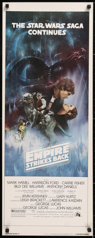 The Empire Strikes Back Insert (14x36) Original Vintage Movie Poster