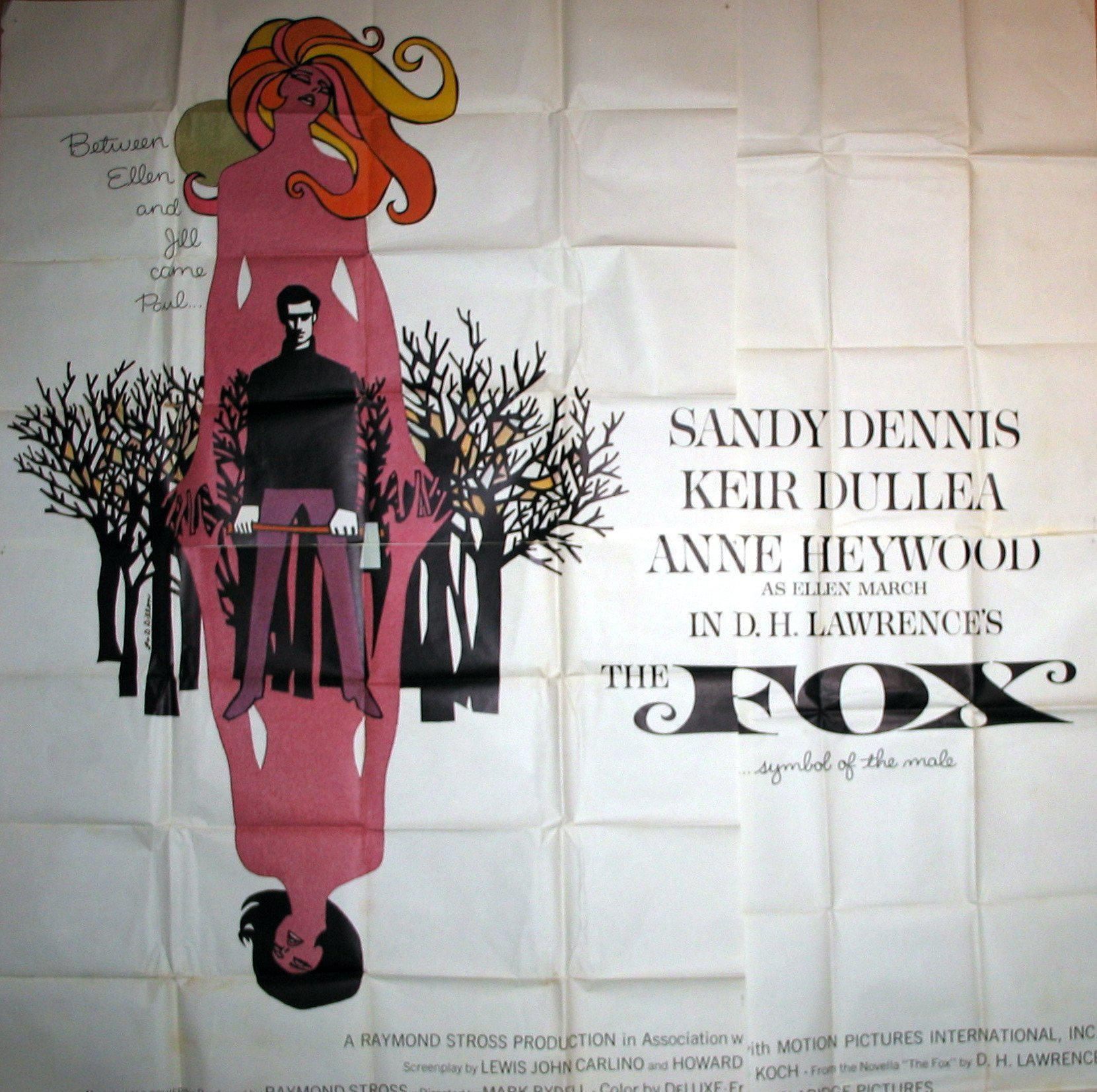 The Fox 6 Sheet (81x81) Original Vintage Movie Poster