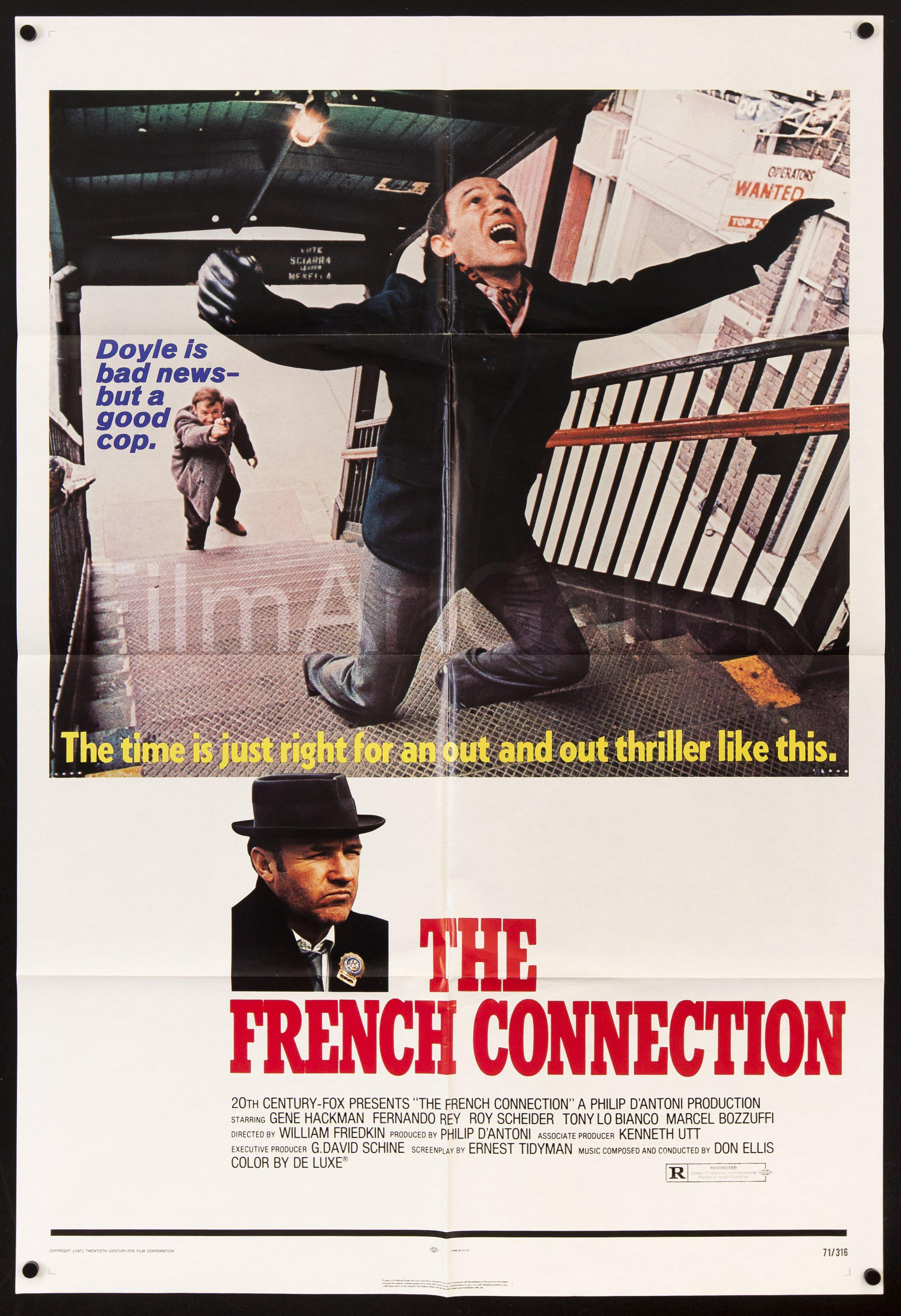The French Connection 1 Sheet (27x41) Original Vintage Movie Poster