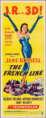 The French Line Insert (14x36) Original Vintage Movie Poster