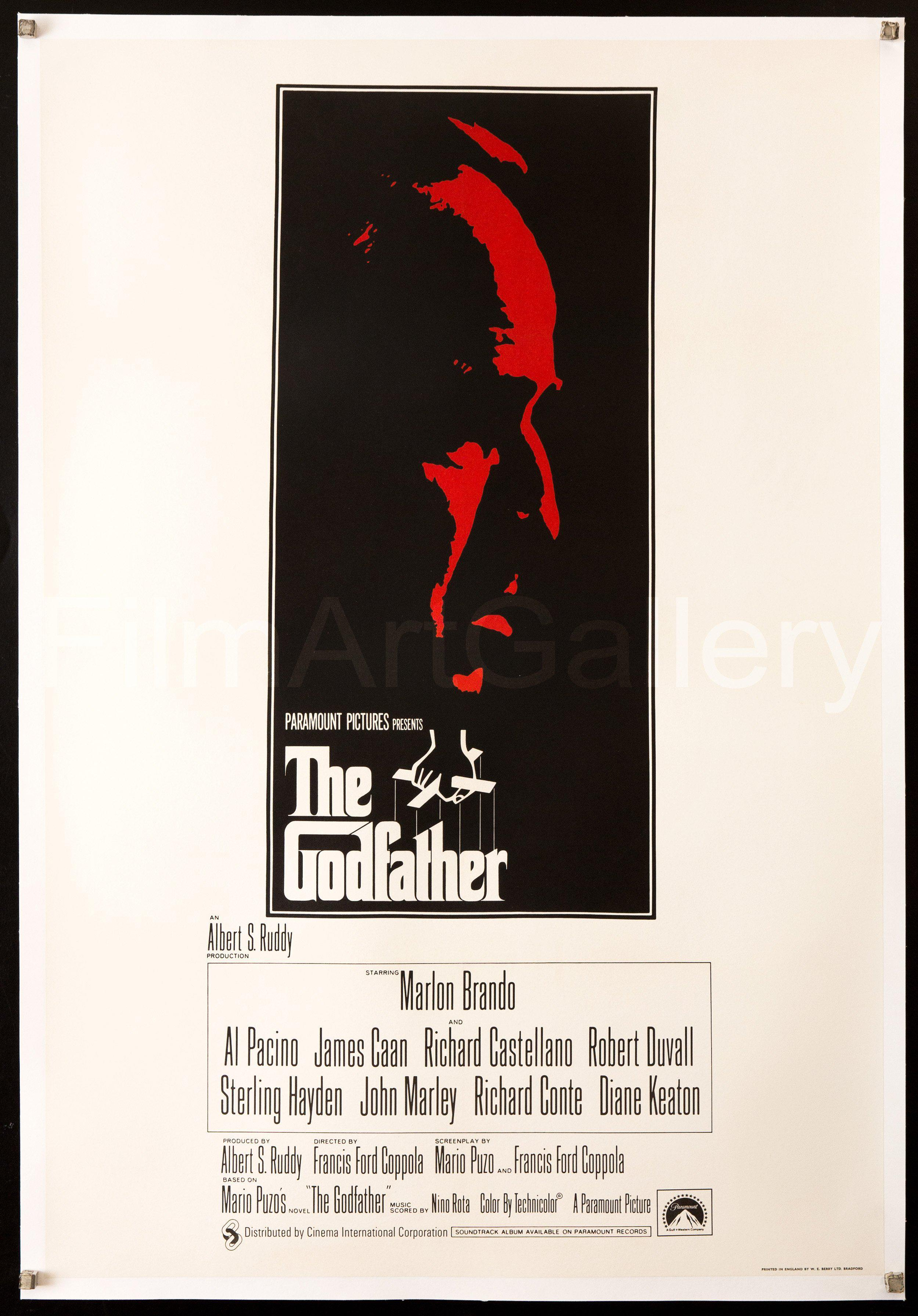 The Godfather 1 Sheet (27x41) Original Vintage Movie Poster