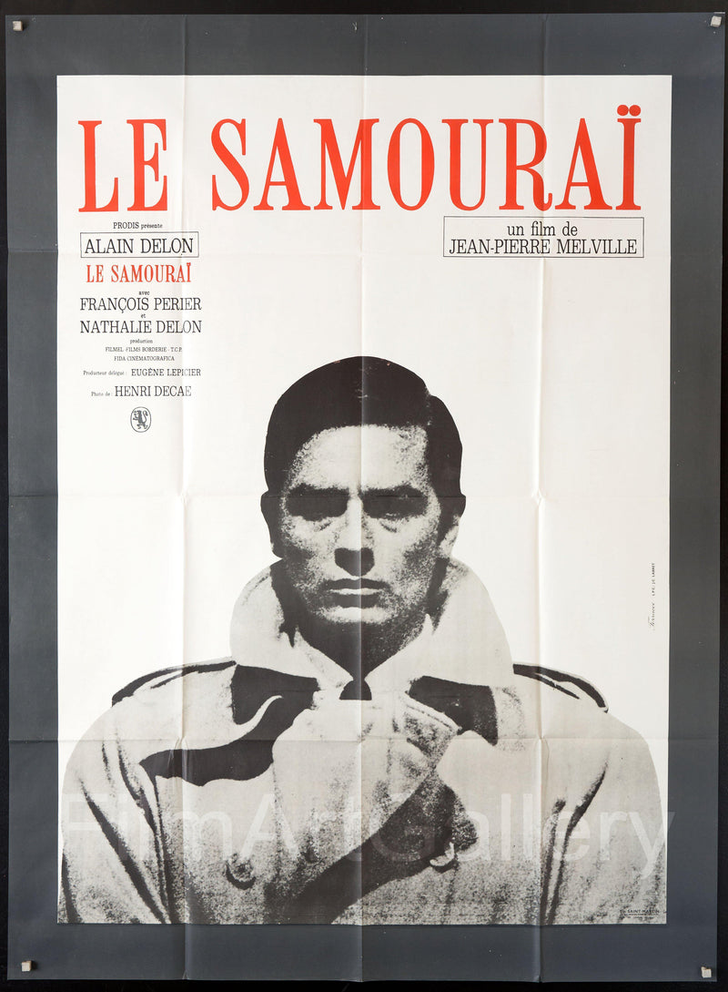The Godson (Le Samourai) French 1 panel (47x63) Original Vintage Movie Poster