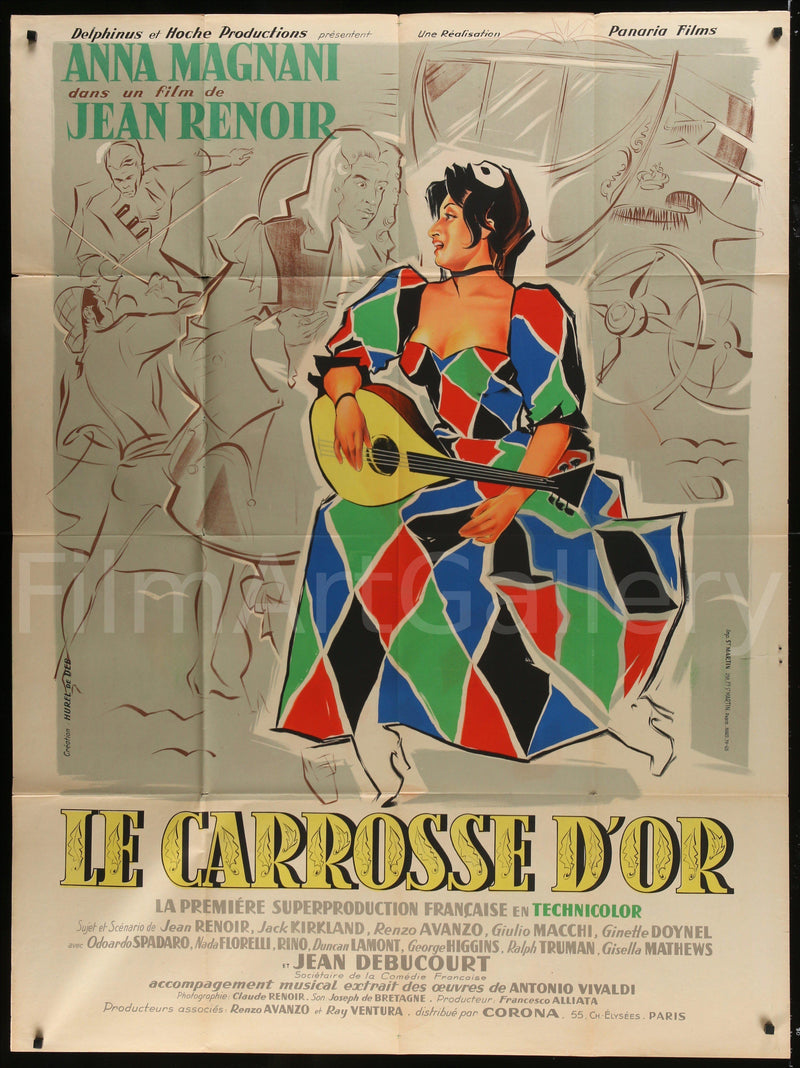 The Golden Coach (Le Carrosse D'Or) French 1 Panel (47x63) Original Vintage Movie Poster