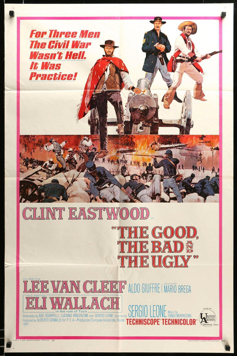 The Good Bad and the Ugly 1 Sheet (27x41) Original Vintage Movie Poster